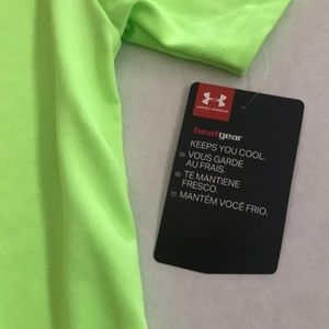 1aa6a6d0 NEW Under Armour Neon Green Yellow Heatgear 7 NWT